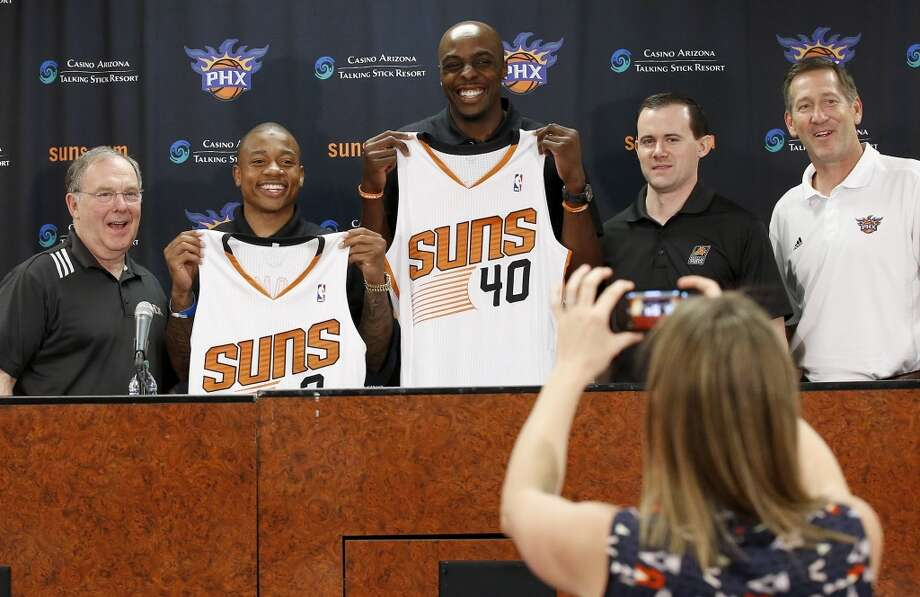 Phoenix Suns Additions: Isaiah Thomas (Sacramento), Anthony Tolliver (Charlotte), T.J. Warren (rookie) Subtractions: Channing Frye (Orlando), Ish Smith (Houston). Net result: The Suns were able to resign P.J. Tucker, who was a big key last season. The addition of Thomas will also help them continue to become a stronger team in the west. Photo: Ross D. Franklin, Associated Press