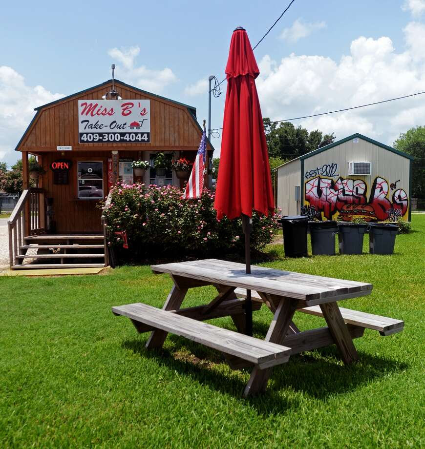 A picnic table sits outside Miss B's Take Out on Monday afternoon. Miss B's Take Out in Port Arthur is the Cat5 Restaurant of the Week for July 31, 2014.  Photo taken Monday 7/21/14 Jake Daniels/@JakeD_in_SETX