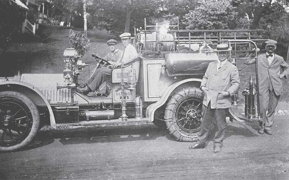 Greenwich Fire Department Members of the Amogerone Fire Co. No. 1  (circa 1924). Photo: Greenwich Historical Society, GT / Greenwich Time Contributed