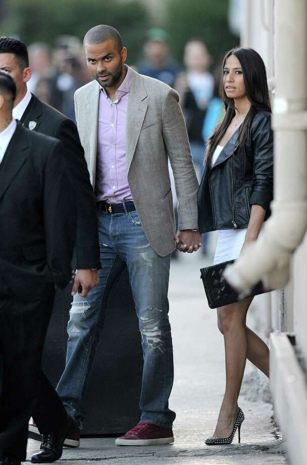 Tony Parker and Axelle Francine are seen on June 19, 2014, in Los Angeles, California. Photo: Axelle/Bauer-Griffin, Getty Images / 2014 Bauer-Griffin