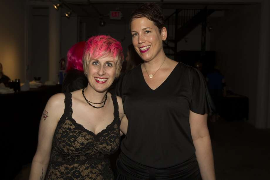 Nicole Longnecker and Sorcha Landay pose for a photo at the Planned Parenthood Party Like a Rockstar party. Photo: J. Patric Schneider, For The Chronicle