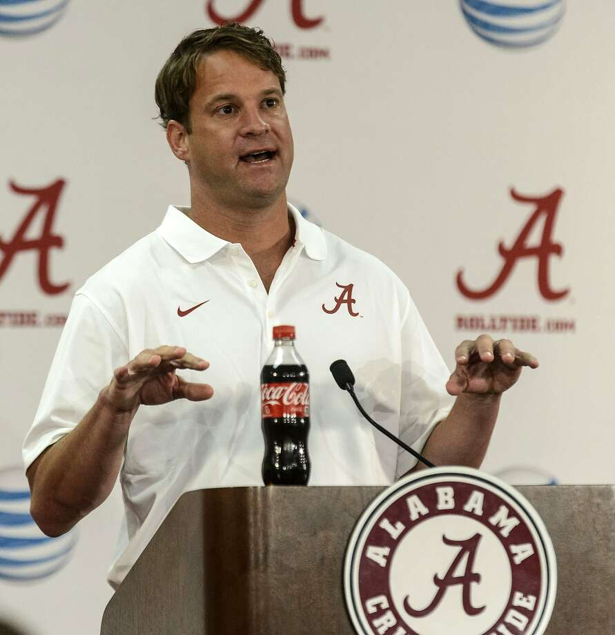Alabama NCAA college football offensive coordinator/quarterbacks coach Lane Kiffin speaks to the media before practice Sunday, Aug. 3, 2014,  in Tuscaloosa, Ala. (AP Photo/AL.com, Vasha Hunt) MAGS OUT Photo: Vasha Hunt, Associated Press