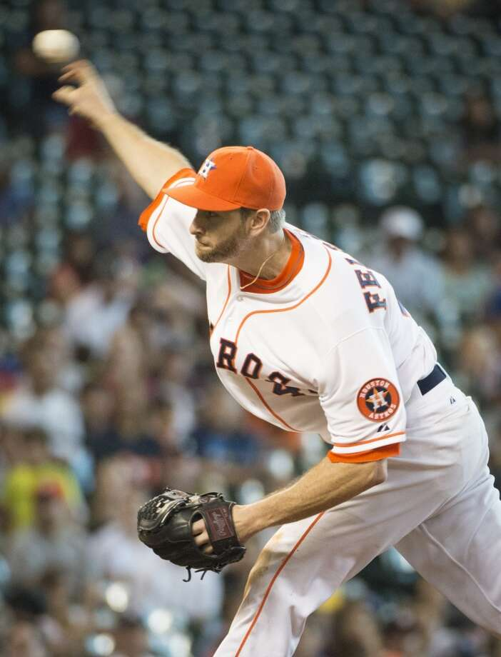 August 3: Astros 6, Blue Jays 1  Scott Feldman pitched his first complete game as a member of the Astros as the club won the series.  Record: 47-65. Photo: Smiley N. Pool , Houston Chronicle