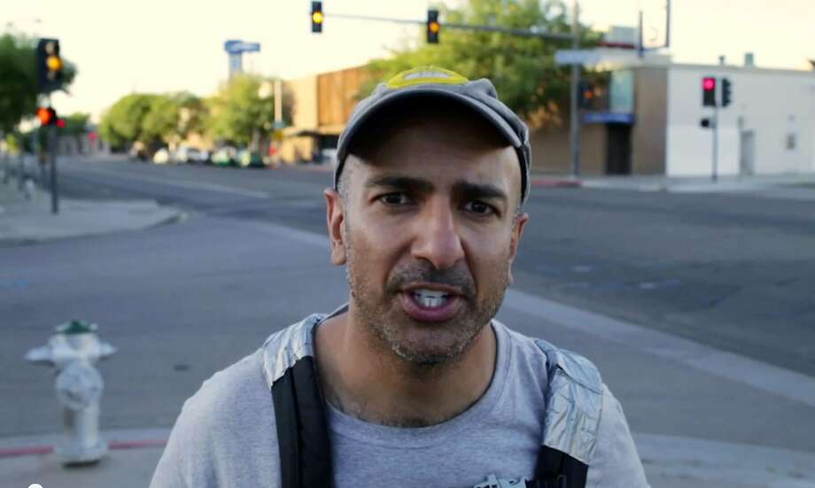 In this still frame from video provided by the Kasakari For Governor campaign, Neel Kashkari, the Republican candidate for California governor, speaks to the camera during a week he posed as a homeless and unemployed person on the streets of Fresno, Calif.  Kashkari said Thursday, July 31, 2014, he made the video to highlight the disparity between incumbent Gov. Jerry Brown's claim that the state is making an economic comeback and the reality faced by the working poor in the nation's most populous state. Photo: Associated Press