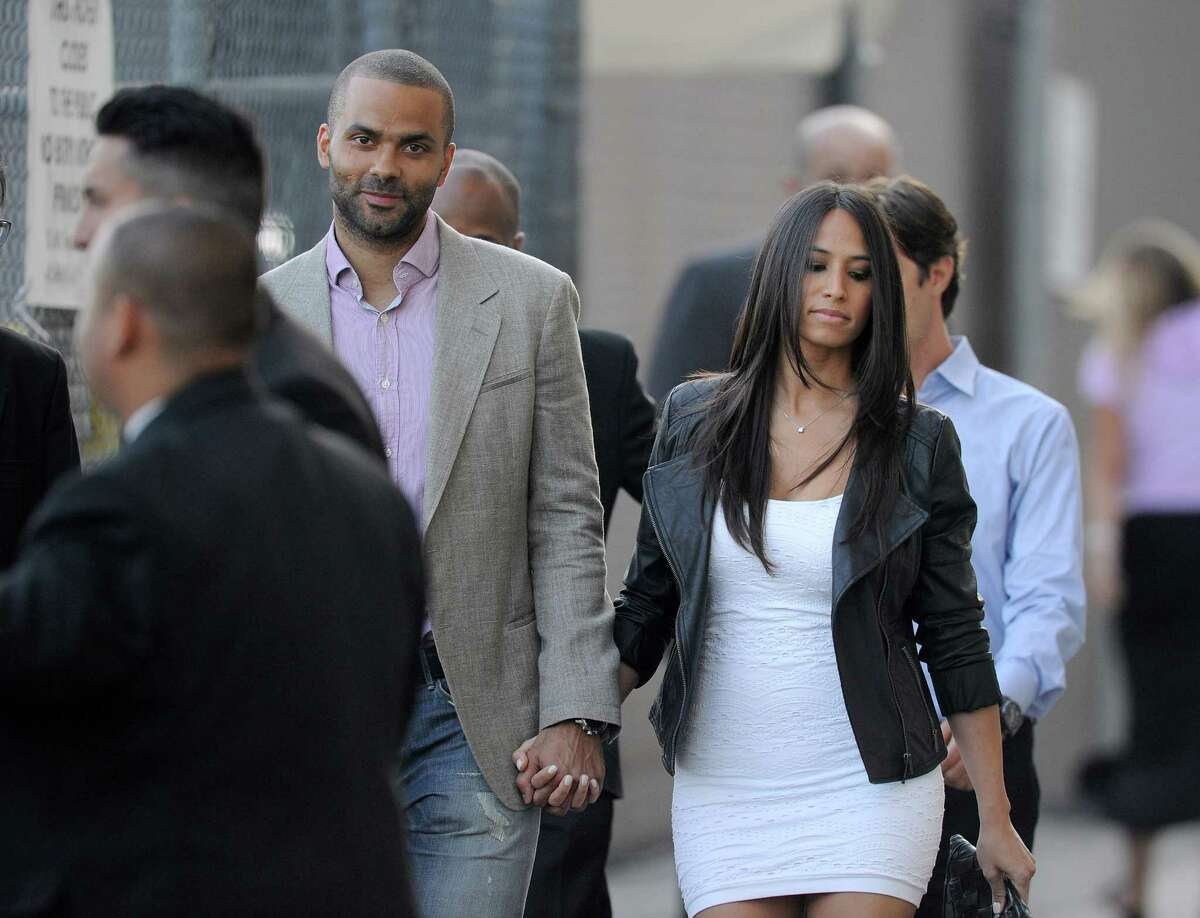 Tony Parker and Axelle Francine are seen on June 19, 2014, in Los Angeles, California.