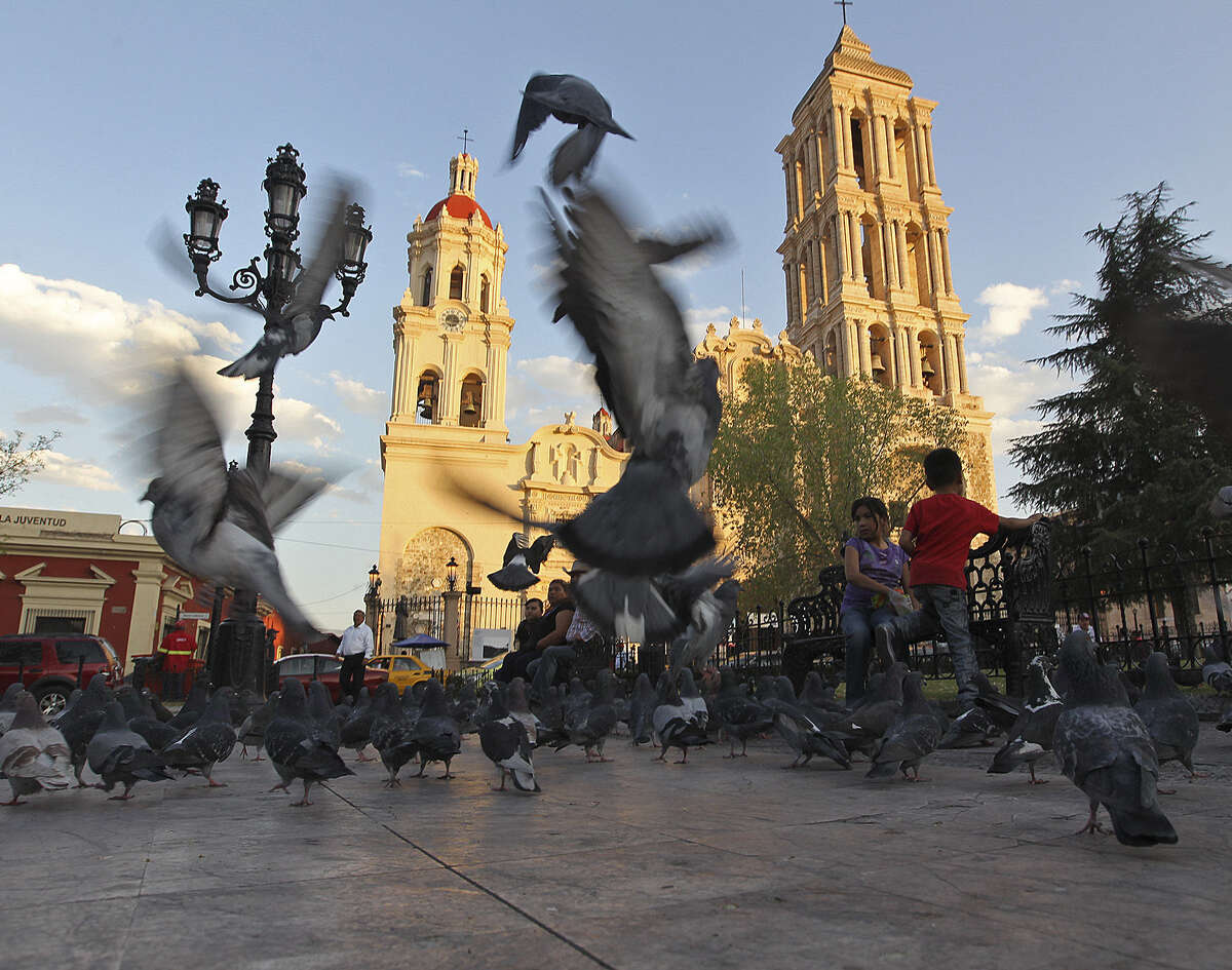 This is the Plaza de Armas near Santiago Cathedral in Saltillo, Mexico. The state of Coahuila now is saddled with a $3 billion debt racked up under Gov. Humberto Moreira's leadership.