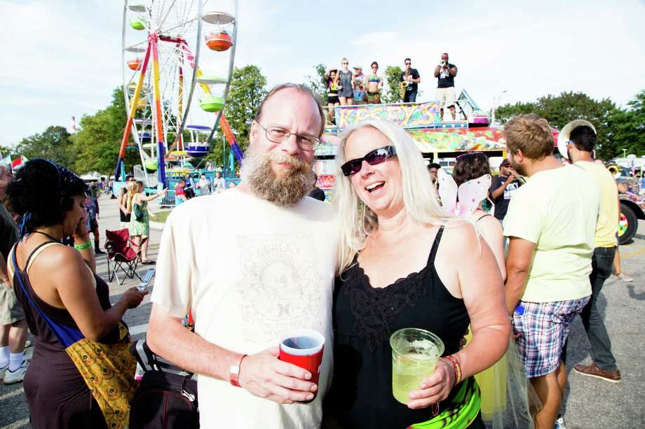 Festival goers donned fun, festive, and bohemian outfits for the 2014 Gathering of the Vibes music festival at Seaside Park in Bridgeport.  On Sunday, August 3, fans enjoyed performances from Ziggy Marley, Dispatch, and others.  Were you SEEN on Sunday? Photo: Catherine Conroy Halstead