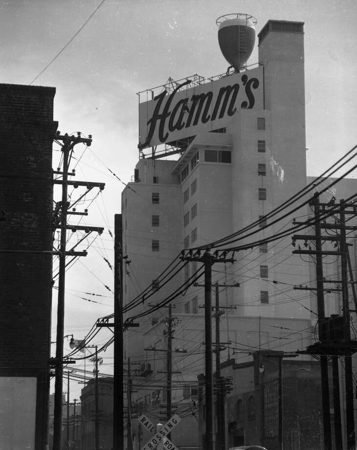 The Hamm's Brewery sign. Pictured: The brewery's opening at 1550 Bryant St. on June 24, 1954. Photo: Bob Campbell, The Chronicle