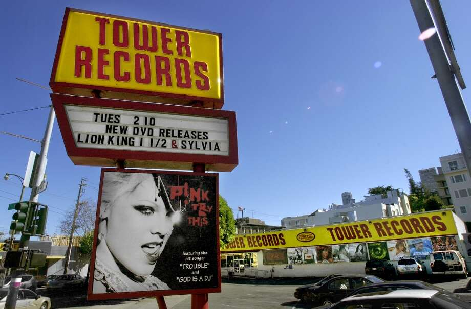 A Tower Records retail store, such as this one at Columbus and Bay. Photo: CHRIS HARDY, SFC