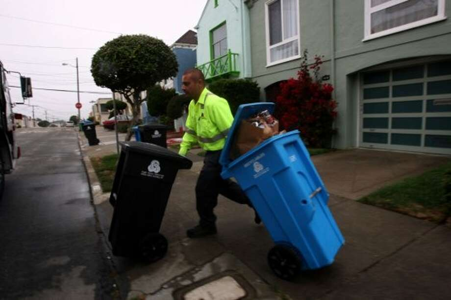 The garbage man ringing your doorbell every month to collect money in cash. Submitted by SFGate user 'telhinative.' Photo: Liz Hafalia, The Chronicle