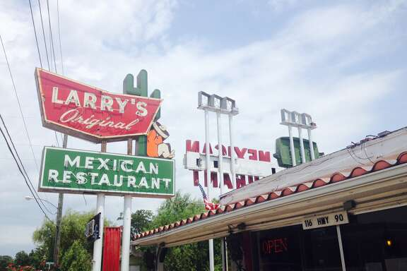 Sign from Larry's Original Mexican Restaurant in Richmond, Tex.