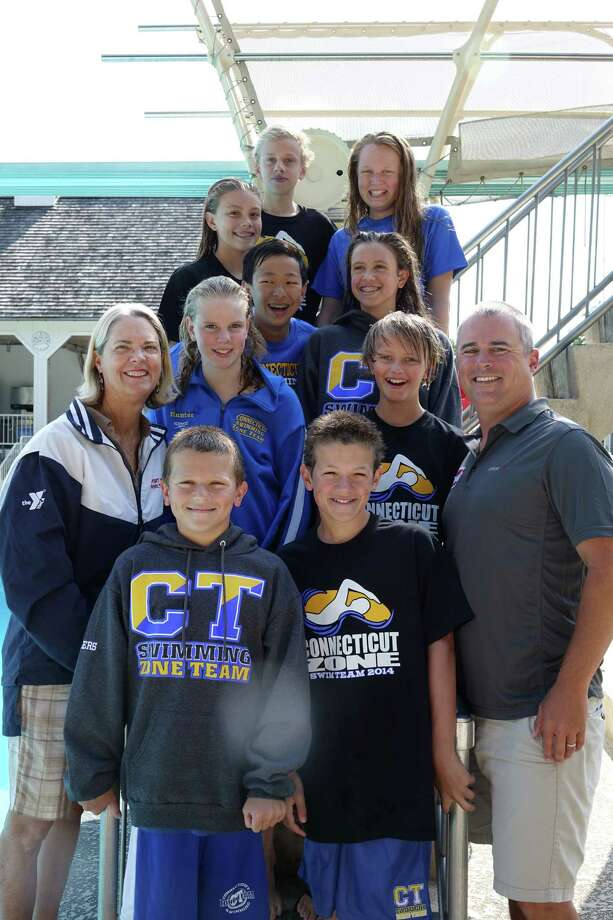 The Family Y Water Rat Age Group team will be sending a record number of swimmers to represent Connecticut at the Eastern Zone Championships in Richmond, Va., Aug. 6-9. Photo: Contributed Photo / Westport News Contributed
