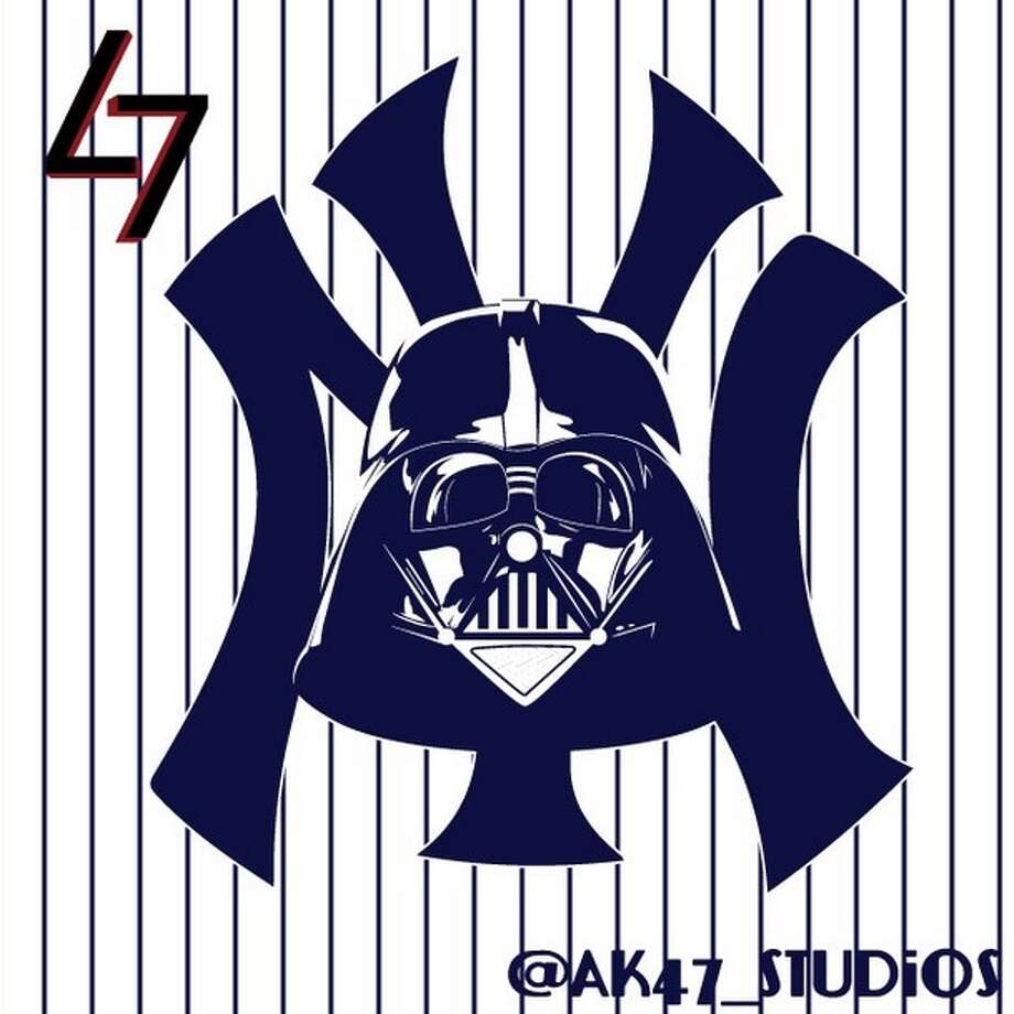 The Force is strong with graphic designer Mark Avery-Kenny, who has knocked it out of the park with this next-level re-imagining of MLB team logos.Take a look at the greatness that occurs when Star Wars meets America's favorite pastime. The New York Yankees and Darth Vader Photo: Mark Avery-Kenny, AK47 Studios