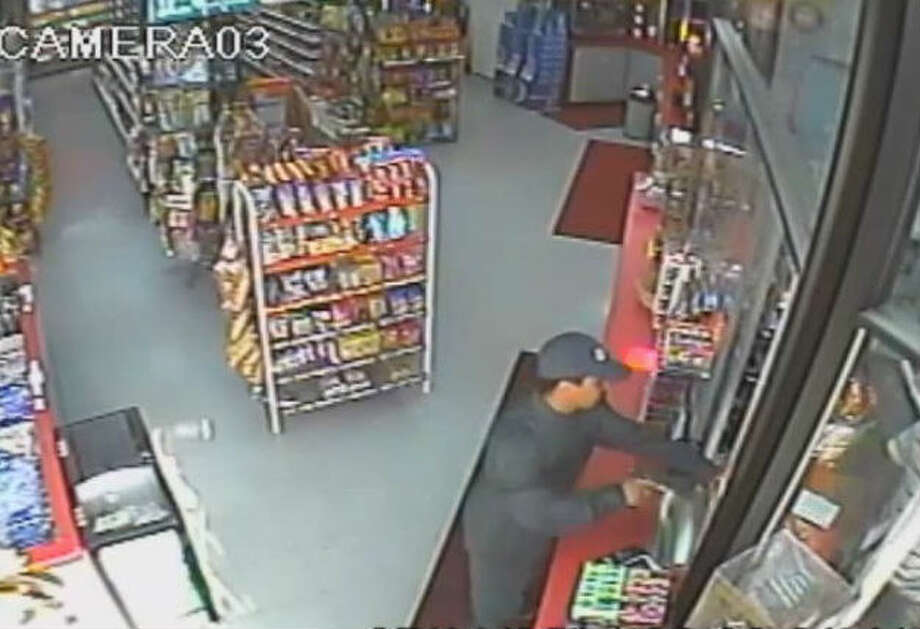 ROBBER PAYS UP: A routine gas station robbery probably didn't go as planned for a Houston criminal earlier this month when he was forced to return a portion of his loot to the counter in order to leave the business he had just robbed.RELATED: Robber has to pay his way out of gas station he just robbed Photo: Houston Crime Stoppers
