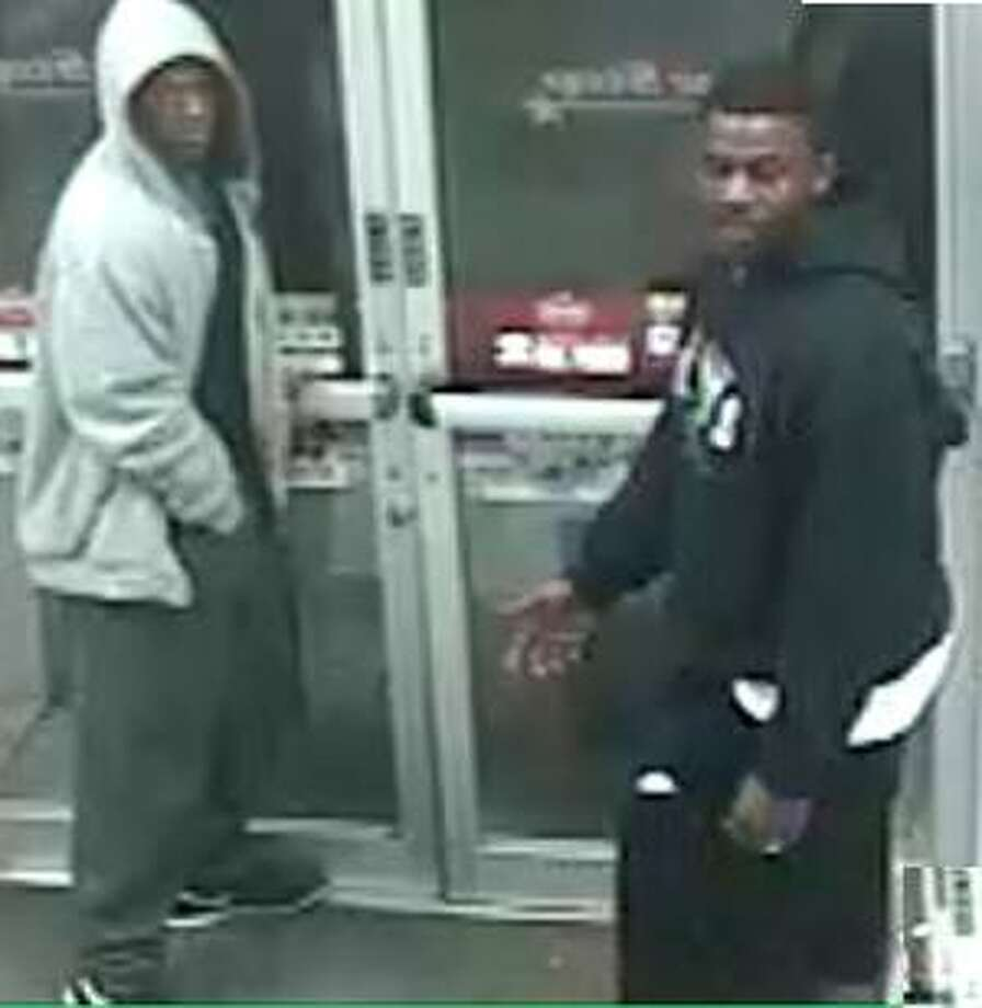 ARMED ROBBERY OF CONVENIENCE STORE: Authorities are searching for two men they say worked as a team to rob a convenience store by gunpoint in northeast Houston in May.RELATED: Camera catches men robbing northeast Houston store Photo: HPD
