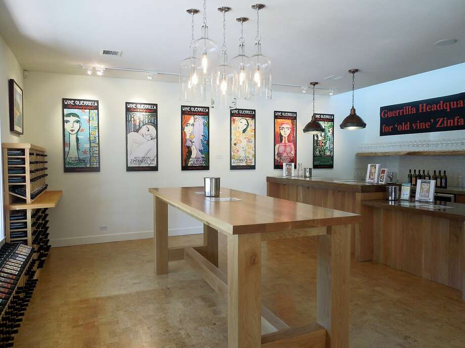 The Wine Guerrilla tasting room in Forestville. The site previously had been an art gallery. Photo: Carey Sweet, Special To The Chronicle