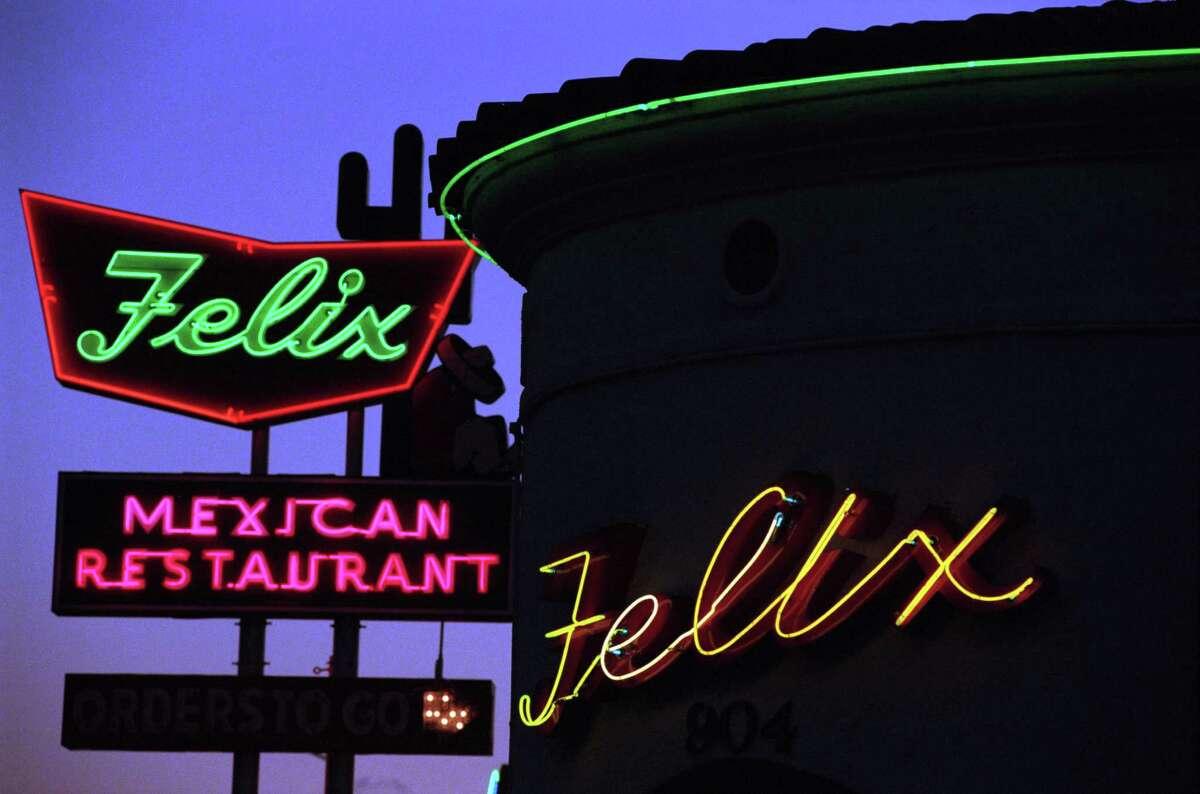 Felix Mexican Restaurant, a Tex-Mex fixture on Westheimer for decades, shot in 1998.