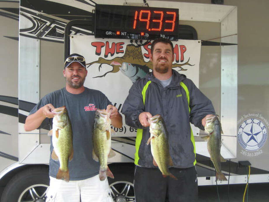Justin Morton & Lance Taylor championed the AQ Rayburn Team season finale with a 19.33 lb sack  Photo by Anglers Quest