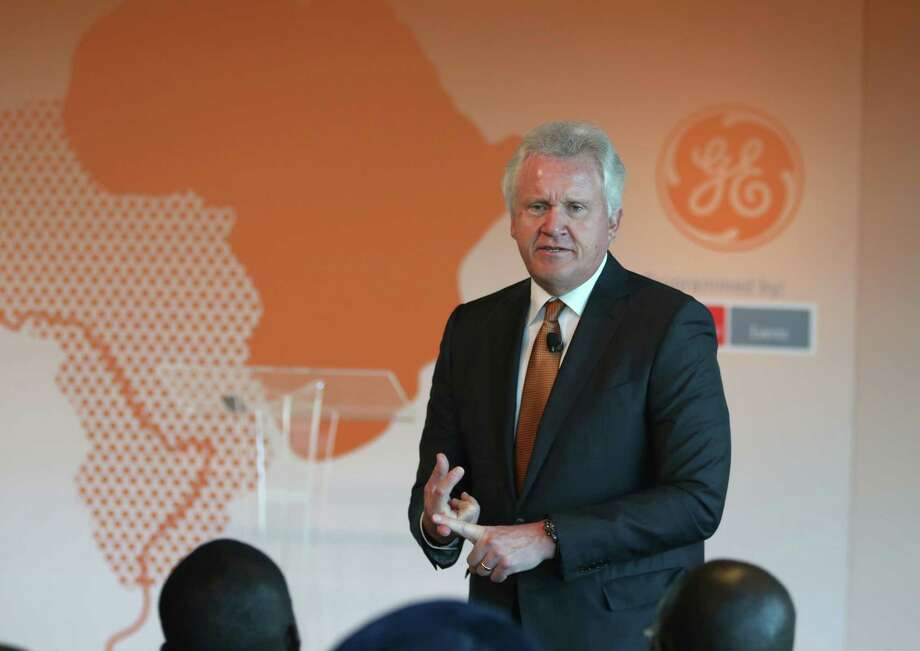 Jeff Immelt, chairman and CEO of GE, speaks about expanding access to power sources across Africa during a discussion at the Newseum, August 4, 2014 in Washington, DC. This week leaders from across the African continent are visiting Washington for a three day U.S-Africa Leaders Summit to build strength between the United States and Africa. Photo: Mark Wilson, Getty Images / 2014 Getty Images