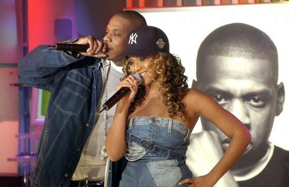 "2002:Jay-Z and Beyonce during the early years at MTV's ""TRL"" Nov. 21, 2002, at MTV Studios Times Square in New York City, New York. (Photo by KMazur/WireImage) Photo: KMazur, WireImage"