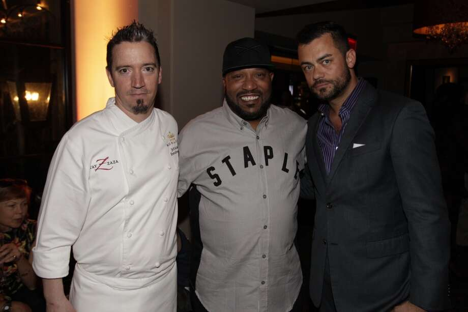 Hotel ZaZa's Chef Jeff Axline, Bun B, and Spencer Lane at Urban Daddy's launch party for Le Melon by Grey Goose at Hotel ZaZa Photo: Bob Levy