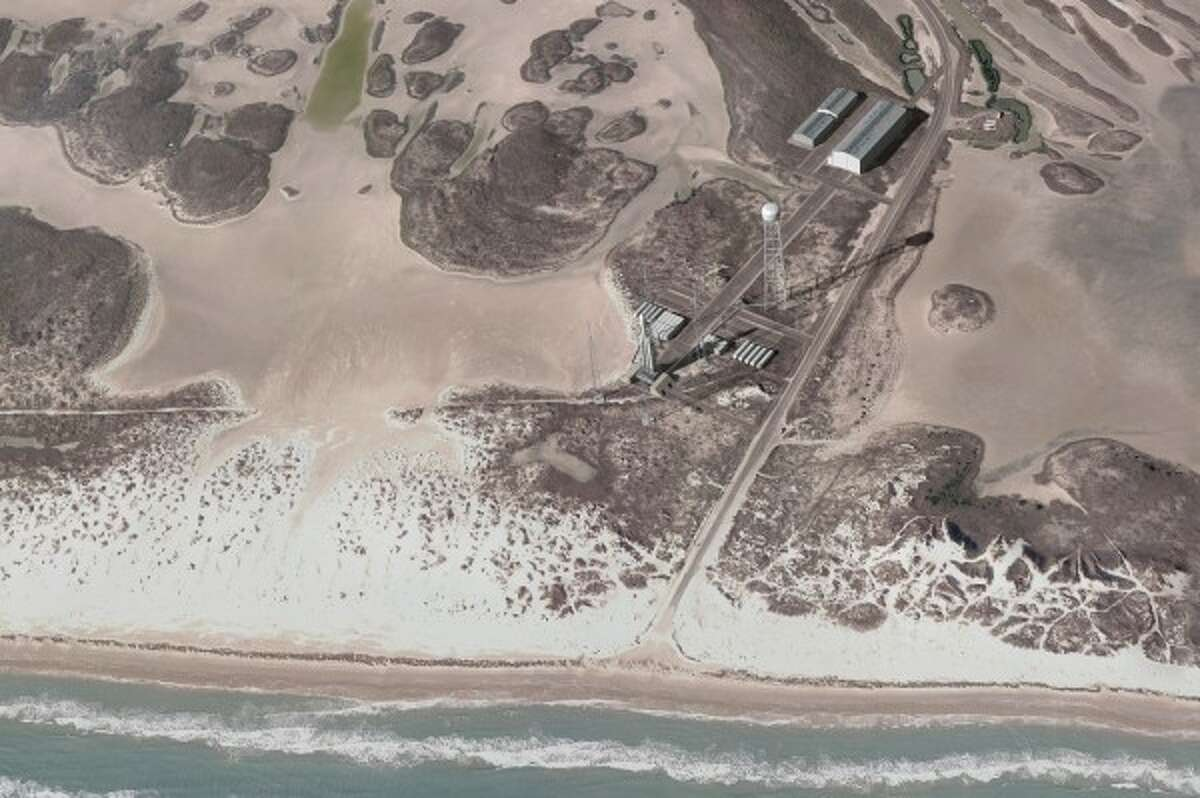 This is an artist rendering of a proposed spaceport at Boca Chica Beach in Cameron, County, Texas near Brownsville, Texas. Image from Space X This is an artist rendering of a proposed spaceport at Boca Chica Beach in Cameron, County, Texas near Brownsville, Texas.
