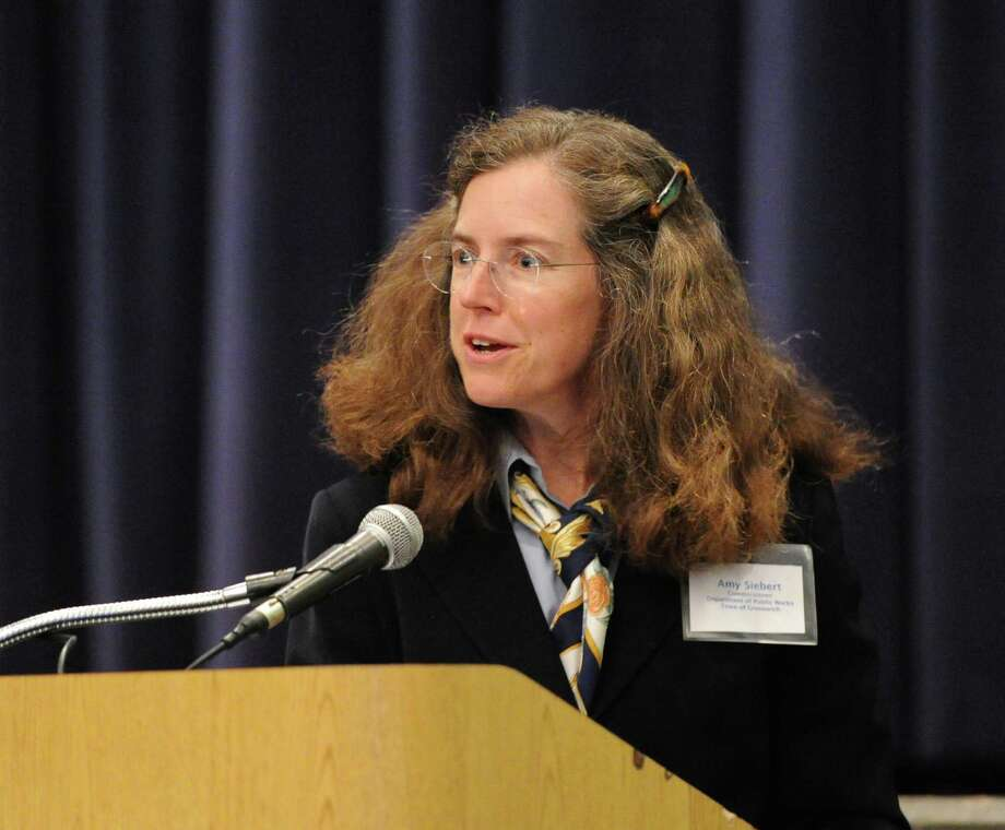 Town of Greenwich Commissioner of the Department of Public Works, Amy Siebert (above) says the condition of town's sewer pipesí condition ìwas much worse than we were anticipating.î   The pipes, which carry almost all of the townís sewage to the Grass Island Waste Water Treatment Plant, need nearly $6 million in immediate repairs. Photo: Bob Luckey / Greenwich Time