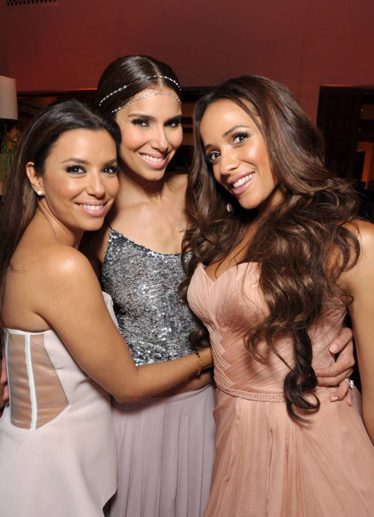 From left, executive producer Eva Longoria, Roselyn Sanchez, and Dania Ramirez attend Lifetime's Devious Maids Premiere Party, on Monday, June 17, 2013 in Pacific Palisades, Calif. (Photo by John Shearer/Invision for Lifetime/AP Images)
