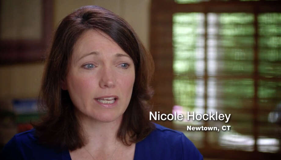 Nicole Hockley, who lost her son, Dylan, 6, in the Sandy Hook Elementary School shooting, plays a prominent role in a new 30-second television ad released Monday by the re-election campaign of Gov. Dannel P. Malloy. Photo: Contributed Photo / Connecticut Post Contributed