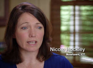 Nicole Hockley, who lost her son, Dylan, 6, in the Sandy Hook Elementary School shooting, plays a prominent role in a new 30-second television ad released Monday by the re-election campaign of Gov. Dannel P. Malloy.