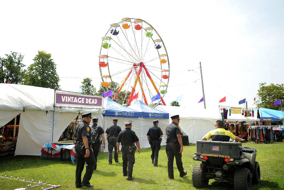 Bridgeport police at the 19th annual Gathering of the Vibes Musical Festival at Seaside Park in Bridgeport, Conn. on Thursday, July 31, 2014. Photo: Brian A. Pounds / Connecticut Post freelance