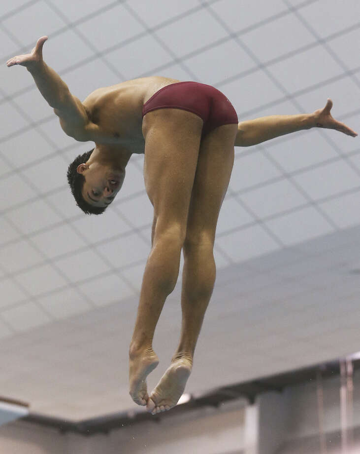 Marshall's Christopher Law, diving at 5A state championships in February, is competing at the USA Diving Junior National Championships this week. Photo: Express-News File Photo