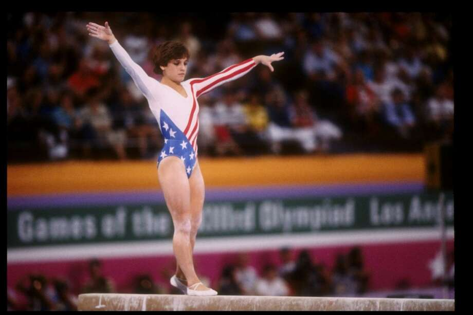 Mary Lou Retton of the United States in action on the balance beam during the Summer Olympics in Los Angeles, California. Mandatory Credit: Steve Powell  /Allsport Photo: Steve Powell, Getty Images