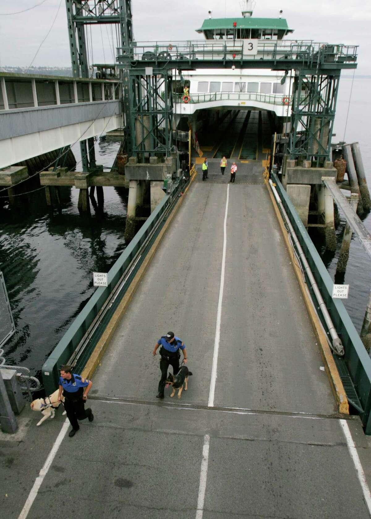 King County prosecutors say a 69-year-old man used his Mercedes to cut the ferry loading line at Seattle's Colman Dock and ram a dock attendant, then still expected to board the sailing to Bainbridge Island, cursing at ferry employees all the while.