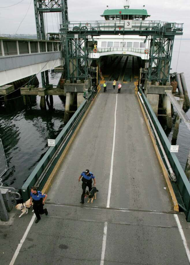 King County prosecutors say a 69-year-old man used his Mercedes to cut  the ferry loading line at Seattle's Colman Dock and ram a dock  attendant, then still expected to board the sailing to Bainbridge  Island, cursing at ferry employees all the while. Photo: Meryl Schenker, Seattlepi.com / Seattle Post-Intelligencer