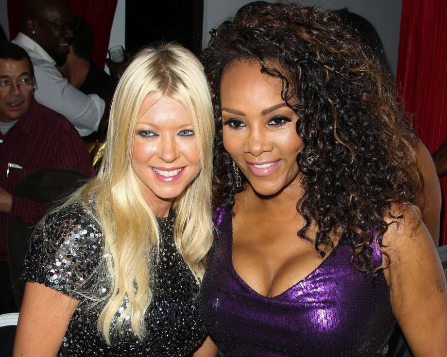 Actors Vivica A. Fox (R) and Tara Reid (L) attend Vivica A. Fox's 50th birthday celebration at Philippe Chow on August 2, 2014 in Beverly Hills, California. Photo: Paul Archuleta, FilmMagic