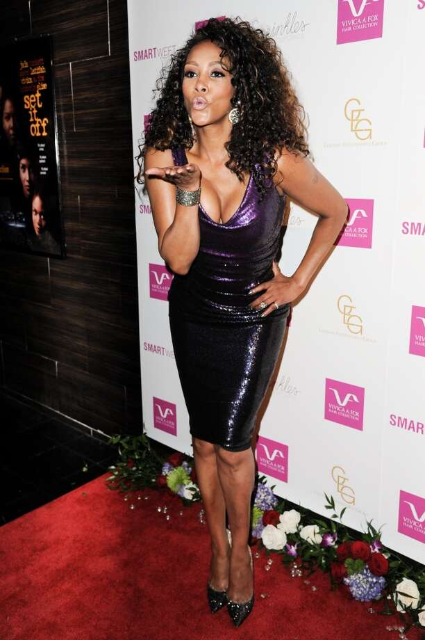 Vivica A. Fox arrives at Vivica A. Fox's Fabulous 50th Birthday Celebration on Saturday, Aug. 2, 2014, in Beverly Hills, Calif. Photo: Richard Shotwell, Associated Press