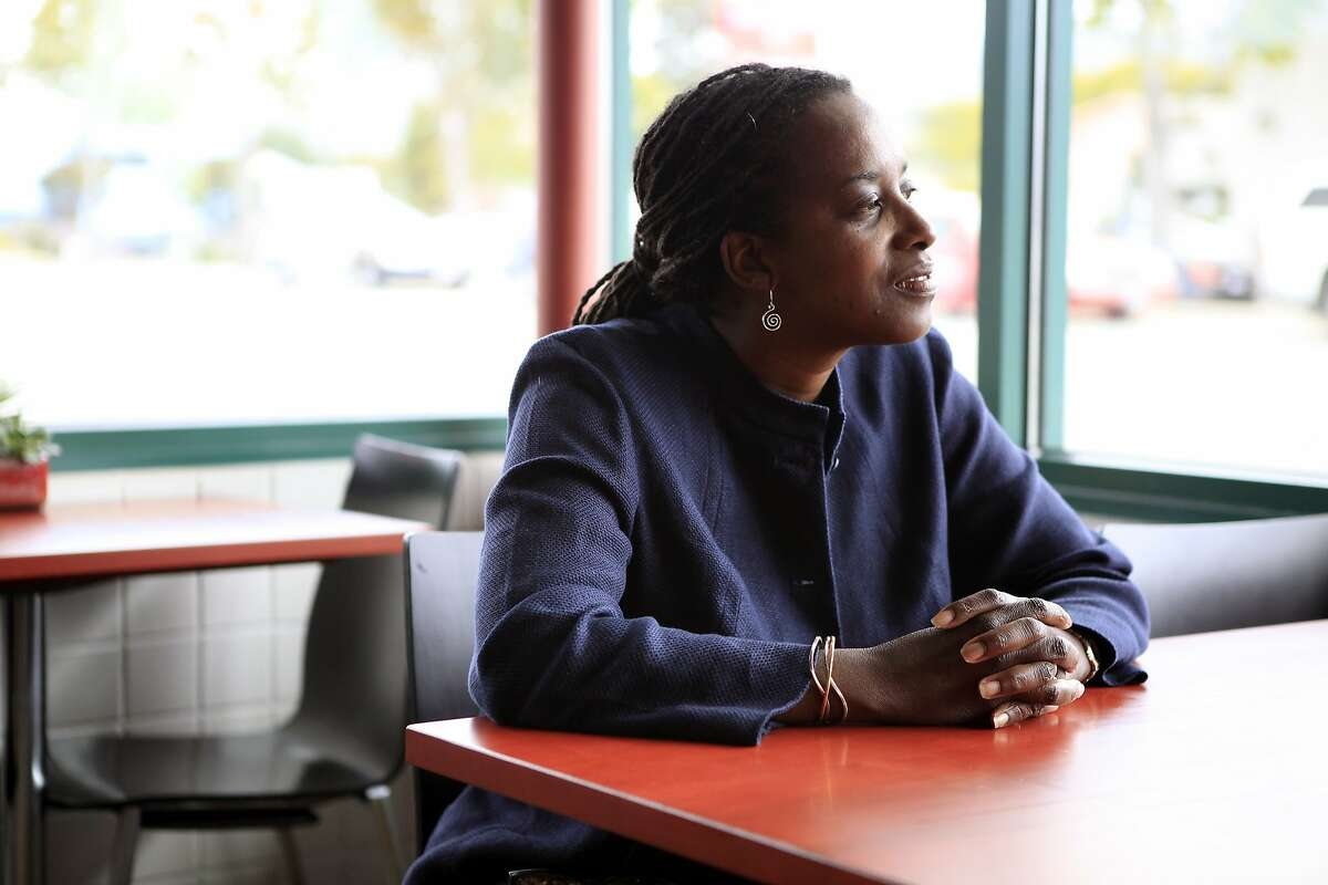 Richmond city councilwoman Jovanka Beckles poses for a portrait following an interview at the El Cerrito Natural Grocery in El Cerrito, CA, Thursday, August 1, 2014.