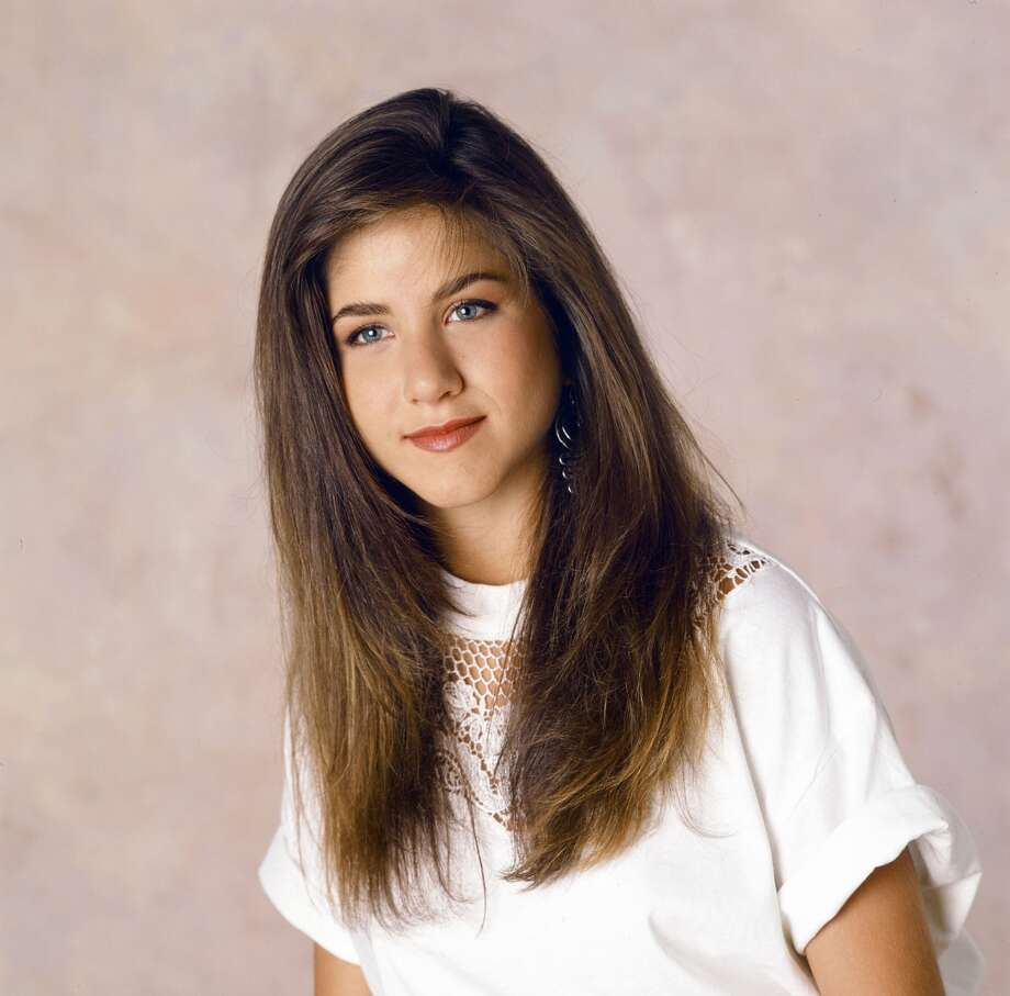 One of Jennifer Aniston's earliest roles was in 1990's short-lived TV series 'Ferris Bueller.' (Pictured is Aniston as Jeannie Bueller in 1990.) Four short years later, Aniston would land the role as Rachel Green on NBC's 'Friends.'