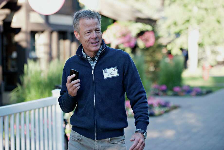 """Jeffrey """"Jeff"""" Bewkes, chairman and chief executive officer of Time Warner Inc., walks the grounds during the Allen & Co. Media and Technology Conference in Sun Valley, Idaho, U.S., on Wednesday, July 9, 2014. Technology companies from Silicon Valley are expected to take center stage at this year's Allen & Co.'s Sun Valley conference as tech and   media converge. Photographer: Daniel Acker/Bloomberg *** Local Caption *** Jeff Bewkes Photo: Daniel Acker / © 2014 Bloomberg Finance LP"""
