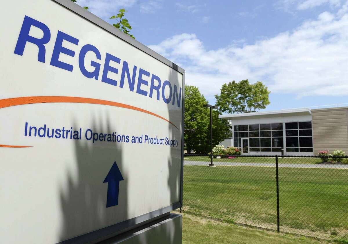 Exterior of Regeneron where they have been recruiting extensively to fill several hundred positions Monday, Aug. 4, 2014, in East Greenbush, N.Y. (Will Waldron/Times Union)