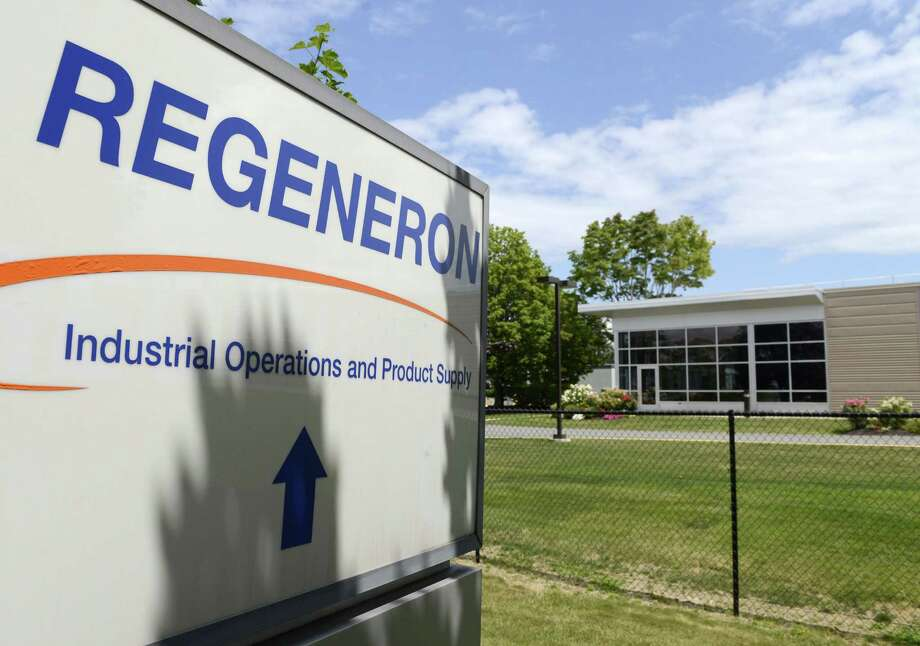 Exterior of Regeneron where they have been recruiting extensively to fill several hundred positions Monday, Aug. 4, 2014, in East Greenbush, N.Y. (Will Waldron/Times Union) Photo: WW / 00028046A