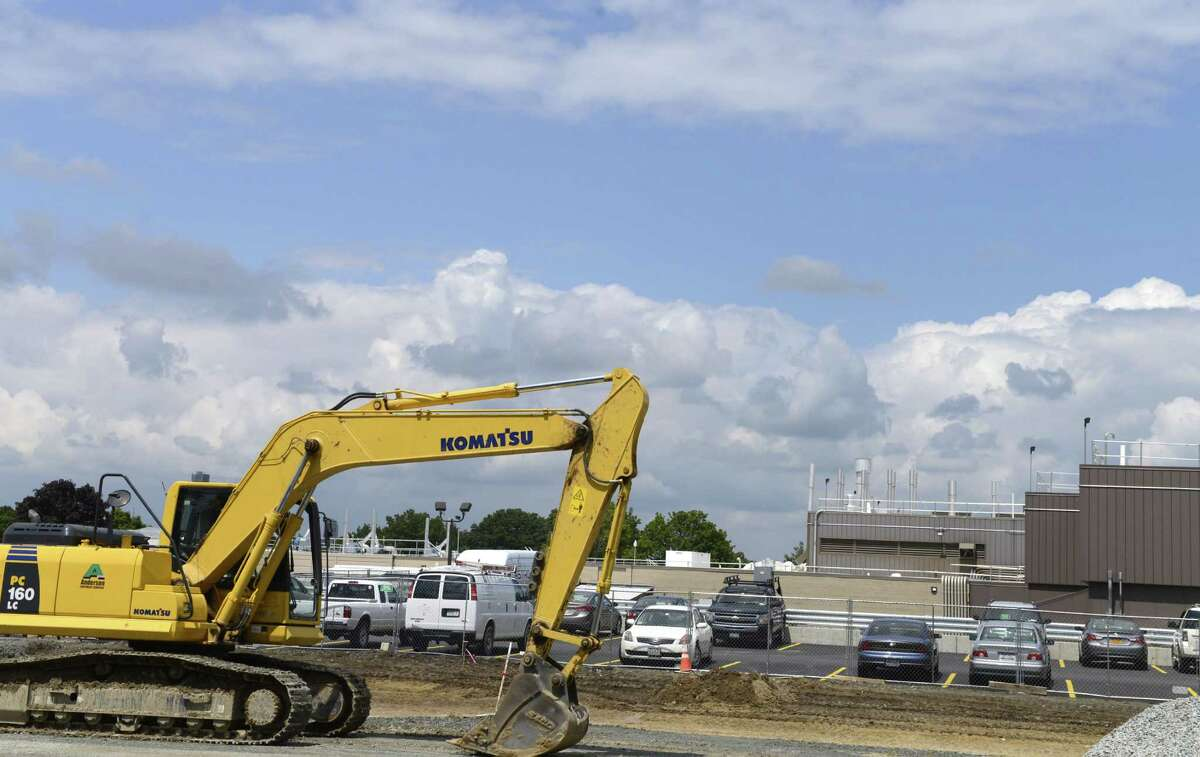 Exterior showing construction work at Regeneron where they have been recruiting extensively to fill several hundred positions Monday, Aug. 4, 2014, in East Greenbush, N.Y. (Will Waldron/Times Union)
