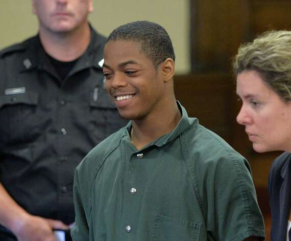 Defendant Xavier Parker is arraigned on murder charges in Rensselaer County Court Monday morning, Aug. 5, 2014, in Troy, N.Y.  (Skip Dickstein/Times Union) Photo: SKIP DICKSTEIN