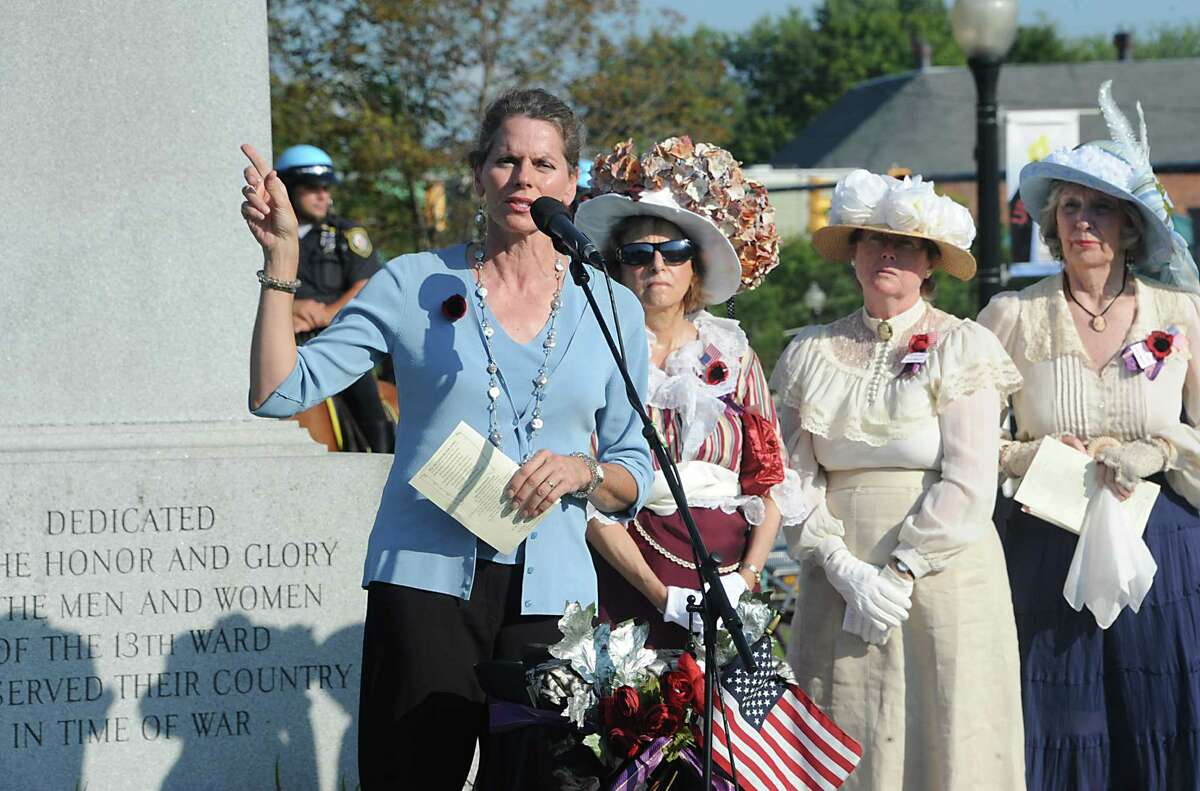 Assemblymember Patrica Fahy speaks at an event celebrating the O100th Anniversary of the Great War,O on Monday, Aug. 4, 2014 in Albany, N.Y. (Lori Van Buren / Times Union)