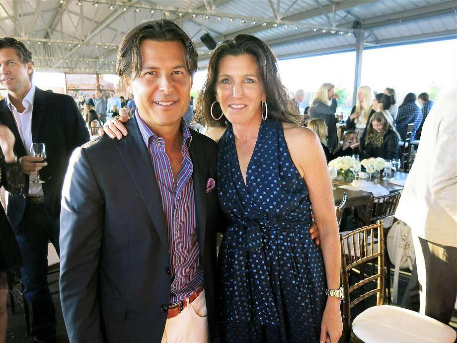 Shaklee CEO Roger Barnett and his wife, Sloan, helped sponsor the Giant Steps Charity Classic. Photo: Catherine Bigelow, Special To The Chronicle