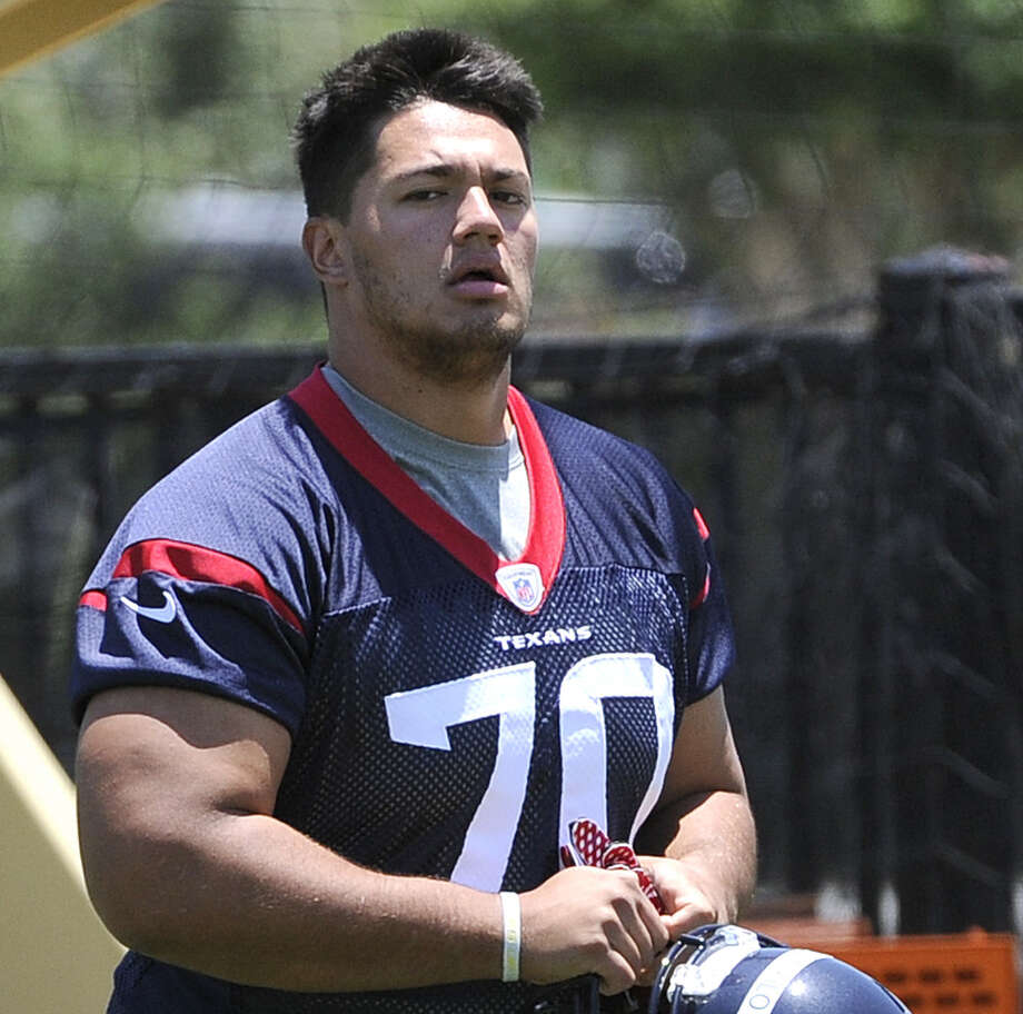 Texans offensive lineman Xavier Su'a-Filo figures to play a lot in Saturday's preseason opener at Arizona. Photo: Pat Sullivan / Associated Press / AP