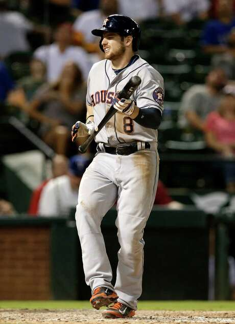 Astros outfielder Alex Presley, left, and reliever Anthony Bass have both endured nagging setbacks this season because of injuries. Presley has missed 22 games with a right oblique strain, and Bass, now in the minors, missed 47 contests because of a right intercostal strain. Photo: Tony Gutierrez, STF / AP
