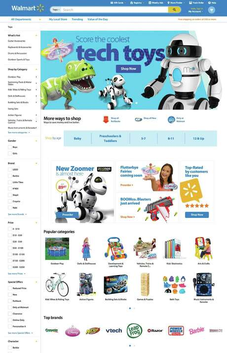 This undated image provided by Wal-Mart, shows the website that will enable it to personalize the online shopping experience for each customer. Wal-Mart is rolling out a feature that will enable its website to show shoppers more products that they may like, based on their previous purchases. It also will customize Wal-Mart's home page for each shopper based on where that customer lives, showing local weather and events, as well as the customer's search and purchase histories. (AP Photo/Wal-Mart) Photo: HONS / Wal-Mart