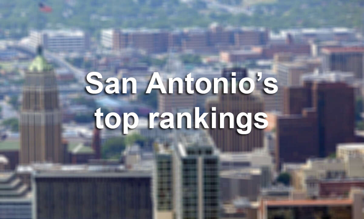 Click through the gallery for San Antonio's most recent rankings nationally and in the state.
